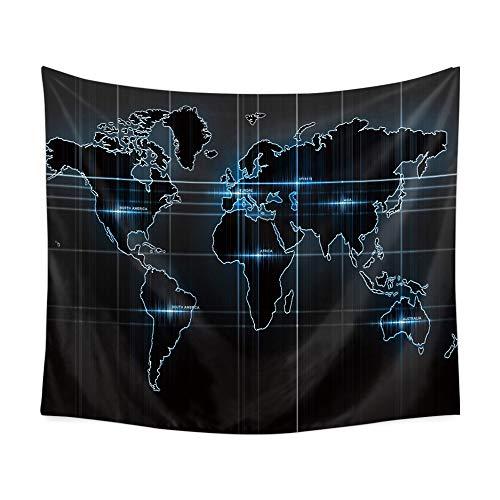 Gangster-hexe (mmzki Europäischen und amerikanischen Stil Weltkarte multifunktions Tapisserie Decke wandbehang Strandtuch Tapisserie wandbild innen Kunst Dekoration 200x150 cm)