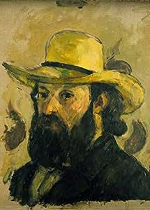 """Paul CÉZANNE """" Autoportrait au chapeau de paille """" Détail Environ 1875-76 Sur Format A3 Papiers Brillants de 250g. Affiches de Reproduction"""