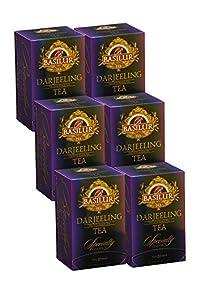 Basilur  High Grown Darjeeling Tea   Ultra- Premium Ceylon Black Tea   Specialty Classics Collection   Single Origin   High Grown Tea   20 Count Foil Enveloped (Pack of 6)