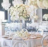 Hochzeitsdekoration, Tischdekoration, Blumenständer, 80 cm, goldfarben, 10 Stück