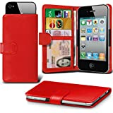 ( Red ) case for Argos Alba 5 Inch case cover pouch High Quality Thin Faux Leather Holdit Spring Clamp Clip on Adjustable Wallet case cover Skin With Credit/Debit Argos Alba 5 Inch case by i-Tronixs