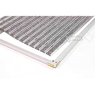 EMCO Eingangsmatte DIPLOMAT ca. 10 mm hellgrau mit Ripseinlage mit Einbaurahmen, Größe:750 x 500 mm