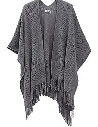 Poncho Punto Chal diseño Para Mujer - Bufanda Suave Ligero Estolas tamaño grande Otoño Invierno