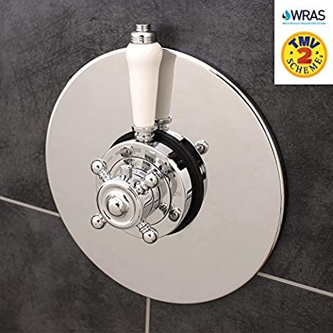 Traditional Concealed Concentric Solid Brass Dual Thermostatic Bathroom Shower Mixer