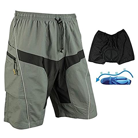 SaySure - SANTIC Cycling Shorts Casual Shorts with Pad Detachable