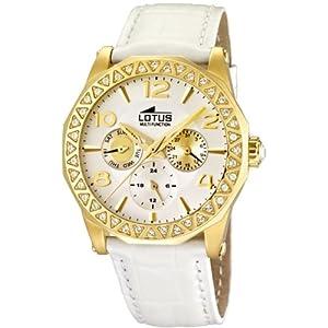 Reloj Lotus 15761/1 de cuarzo para mujer con correa de piel, color blanco de Lotus