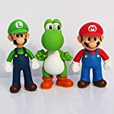 Star wars mini figuren - Anteil 3pcs Mini figur - Super Mario Land - Yoshi & Mario & Luigi - 11/12 cm - Neu