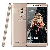 4G Smartphone Portable Debloqué, Leagoo T8S - Téléphone Pas Cher, 5.5 '' Ecran FHD, Reconnaissance faciale Digitales (Android 8.1, Double caméra arrière Double SIM, Octa Core 4Go + 32Go) (Moka Or)