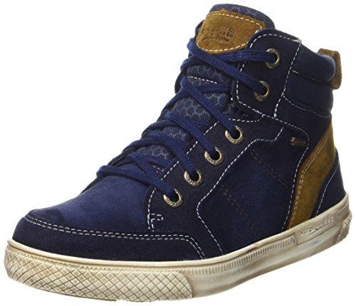 Superfit Jungen Luke Hohe Sneaker, Blau (Ocean Kombi), 35 EU
