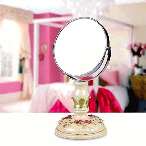 Miroirs Princesse Maquillage Simple Coiffeuse 7 Pouces Haute Définition Double Face Jardin Mode Créative Délicate Mode Creative Belle Belle Pastorale Style Déesse Amélioration de l'habit