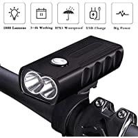 Nologo BX2 Luz de Bicicleta T6 L2 Luz de Bicicleta LED USB Recargable MTB Luz Frontal 1000LM 2600mAh Ciclismo Linterna
