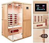 Home Deluxe – Infrarotkabine – California L – Keramikstrahler – Holz: Hemlocktanne - Maße: 130 x 120 x 195 cm – inkl. vielen Extras und komplettem Zubehör - 2