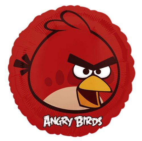 PARTY DISCOUNT NEU Folienballon Angry Birds Red Bird, 45 cm