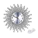 Sunnyday Reloj de Pared Tamaño Grande Flor Grande Arte Creativo Diamante Moderno Reloj de Pared 3D