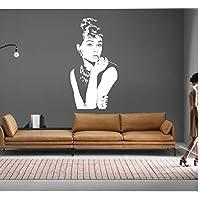 Adesivi Murali Audrey Hepburn.Amazon It Audrey Hepburn Pitture E Trattamenti Per Pareti Fai Da Te