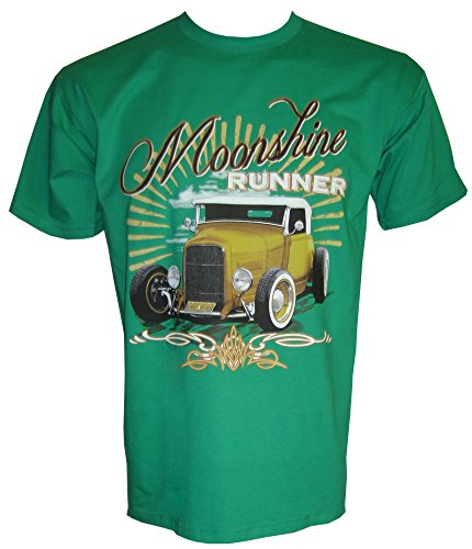 Hot Rod Moonshine Runner T-Shirt in Größe S - 5XL Grün