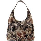 Signare besace sac d'épaule tapisserie mode femme Chat