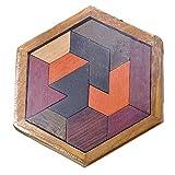 Efanty Puzzle Tangram in Legno giocattolo educativo del gioco - 12 Pezzi