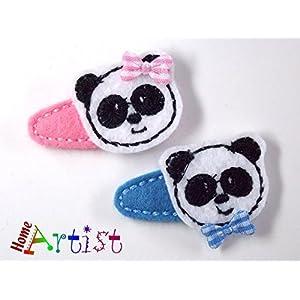 Panda Haarspange für Kleinkinder – freie Farbwahl