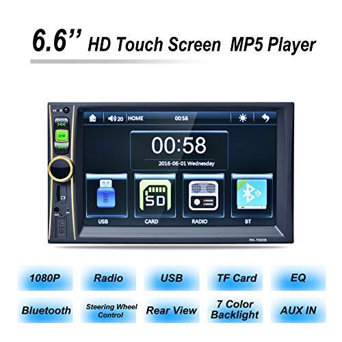 6.6 - Video (CONRAL 6.6 Zoll Auto MP5 Player, 1080P HD Touchscreen, Lenkradsteuerung, GPS-Navigation, Rückfahrkamera, USBFunktion, Geeignet für die meisten 12-V-Automobile)