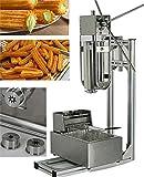 BAOSHISHAN Machine pour Churros 5L Capacité Plus Support de travail et 6L friteuse machine à Churros Churros machine à pain 220V