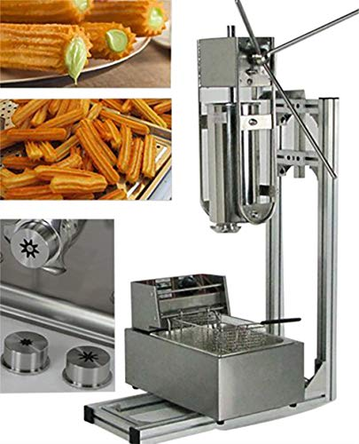 BAOSHISHAN Machine pour Churros 5L Capacité Plus Support de travail et 6L friteuse machine à Churros Churros machine à pain 220V