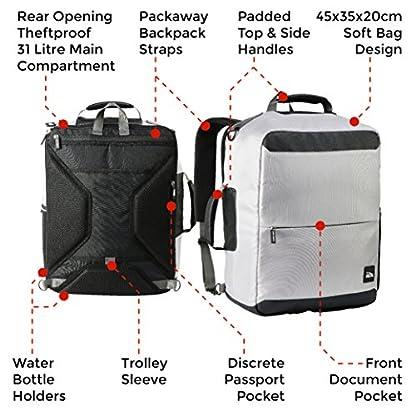 51LT0ZqZkRL. SS416  - Perth 45x35x20cm Anti-Theft mochila y bolsa de viaje de viaje