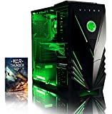 VIBOX Warrior 9 Desktop Gaming PC - with WarThunder Game Bundle (4.1GHz AMD FX Six Core Processor, Nvidia Geforce GTX 960 Graphics Card, 1TB Hard Drive, 8GB RAM, Green Gamer Case, No Operating System)