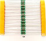 ElectroBot 12k Ohm Carbon Film Resistors .25 Watt Tolerance 5 Percent, 100 Piece