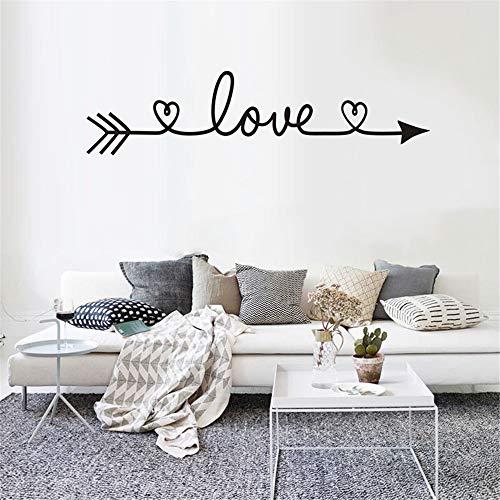 GJQFJBS Love Pattern Fai da te Famiglia Adesivo murale casa Adesivi murali rimovibili Vinile Art Room Decor Adesivi murali giallo 13x58 cm