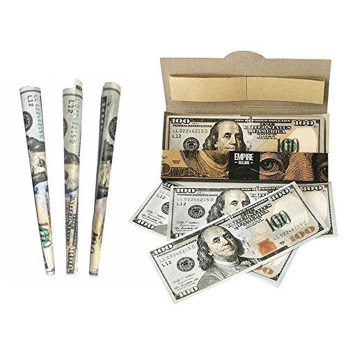 rs, 1 Brieftasche von $100 Bill Premium Zigaretten Rolling Papers (10ST, 2,8