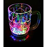 Silver Coin Traders Colour Changing Liquid Activated Lights Multi Purpose Mug Set Of 3 Birthday Return Gift, Anniversary Gift, Valentine Day Gift (Mug With Inductive Rainbow Color Disco Led)
