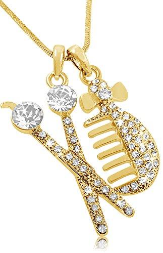 Kristall verziert Silber Ton Schiff Captain Rad mit Anker Anhänger Halskette Fashion Jewelry
