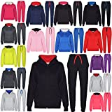 A2Z 4 Kids® Kids Tracksuit Girls Boys Contrast Fleece Hooded Hoodie Bottom Jogging Suit Joggers New Age 5 6 7 8 9 10 11 12 13 Years