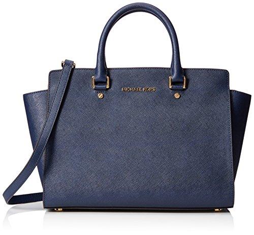 Michael Kors Damen SelmaStud handtaschen Blau (Navy 406) 32x20x14 cm