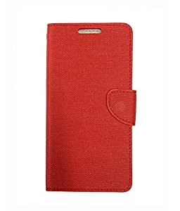 Scudomax Classy Synthetic Leather Durable Flip Flap Case Cover for Huawei Honor 5X Dual SIM - Red