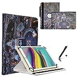 JP-WELT Tablethülle für Blaupunkt Endeavour 101G Schutzhüllen Tablet Case Tasche Hülle - 10.1 (10.5) Zoll Roma/Vatikan