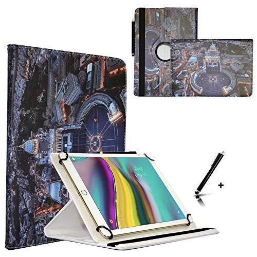 JP-WELT Tablethülle für Denver TAQ-10182 Schutzhüllen Tablet Case Tasche Hülle - 10.1 (10.5) Zoll Roma/Vatikan