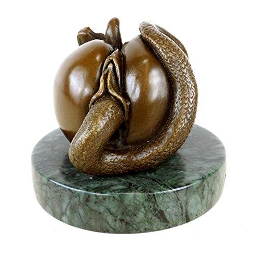 Kunst & Ambiente - Die verbotene Frucht - Vagina Apfel Figur aus Bronze - erotische Figur - signiert Milo - Erotika - Bronzefigur - Sex Skulptur