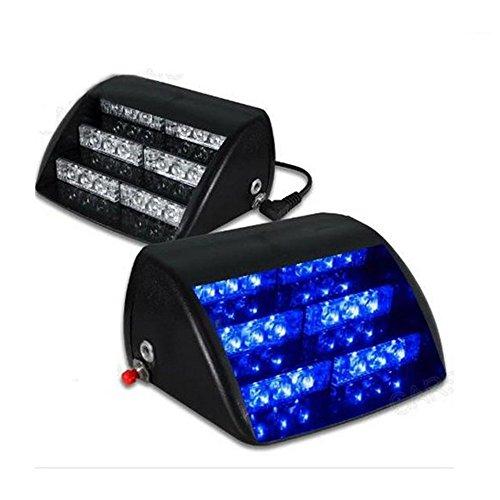 LanXi® 18 LED Autolampe kennenzeichenbeleuchtung Einsatzfahrzeug Blitzleuchten Windschutz Stroboskoplicht Blitzleuchte Lichtbalken Blitzlicht (Blau)