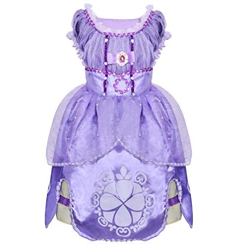 HAWEE Mädchen Kinder Mädchen Kleider Prinzessin Kleid Grimms Märchen Kostüm Cosplay Mädchen Halloween Kostüm (4-5 ()