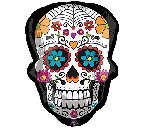 Amscan International 3590001 Sugar Skull Super Shape Folienballon, X-Large