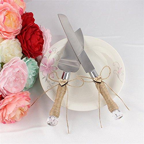 elegantstunning Hochzeitstorte Kuchen Messer Server Set Harz Griff Kuchen Knift Server Set