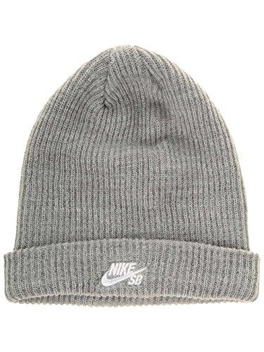 White Nike Sb (Nike SB Fisherman Beanie - Mütze, unisex, Unisex – Erwachsene, Gris / Weiß (Dk Grey Heather/White), MISC)