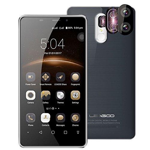 Leagoo M8 Pro - 5,7 pollici Corning Gorilla Glass 4 Schermo smartphone doppia fotocamera posteriore (5MP + 13 MP), android nucleo 6.0 quad 2 GB di RAM 16 GB impronta digitale batteria 3500mA - GRIGIO