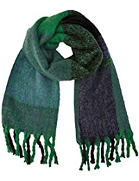 New Look Women s Check 5886137 Scarf, Green (Green Pattern 39), One size 68aa18904e4