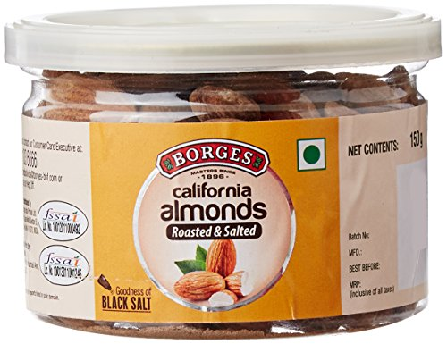 Borges California Almonds Black Salt 18, 150g