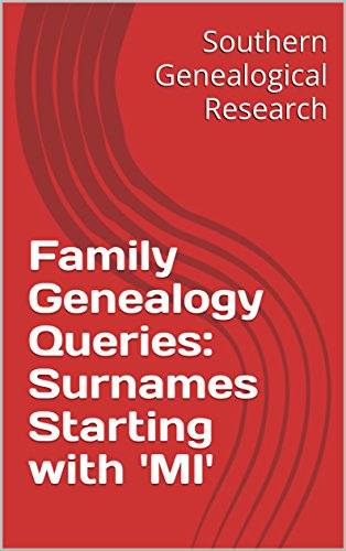 Family Genealogy Queries: Surnames Starting with 'MI' (Southern Genealogical Research) (English Edition)