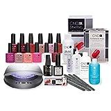 CND SHELLAC 'Love CND' Gelnagel-Starter-Set inkl. CND LED-Lampe, 12 Gelfarben, Unterlack, Überlack & mehr
