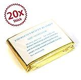 20 x Rettungsdecke gold/silber 2,10*1,60